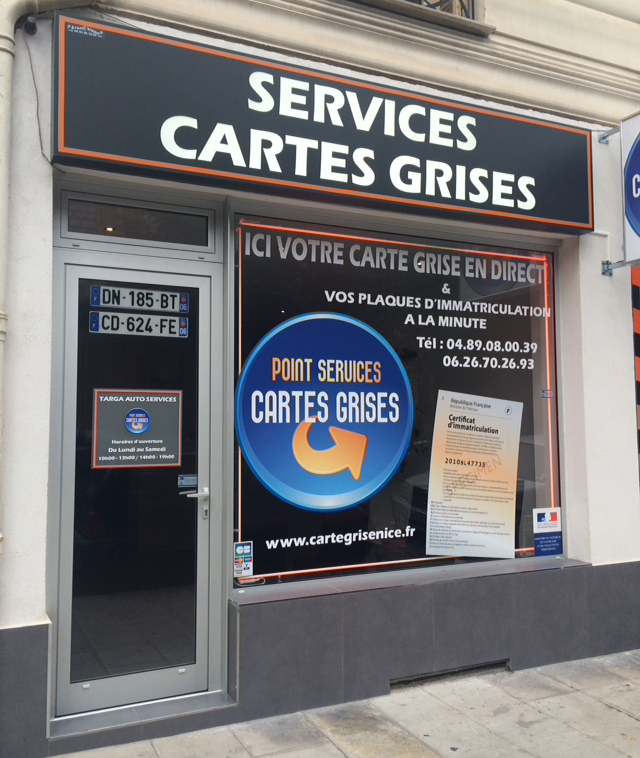 Magasin carte grise à Nice